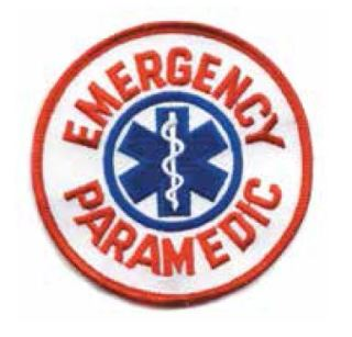 """Paramedic Patch Blue On White 4"""" X 11""""-"""
