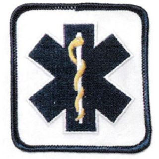 Star Of Life, Blue On White-