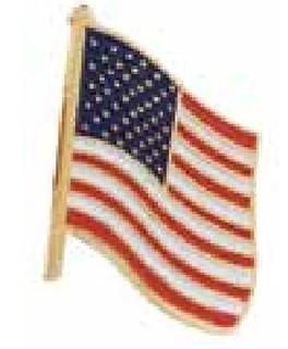 Usa Flag Pin Clutch Back-