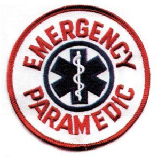 "Paramedic 4"" Round White/Blue/Red-"
