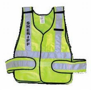 Ansi P.S.V. Lime Vest-Safety Flag