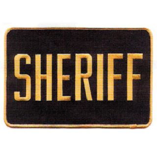 "Sheriff Patch 5"" X 7-1/2""-"
