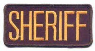 """Sheriff Patch 4-1/4"""" X 2""""-"""