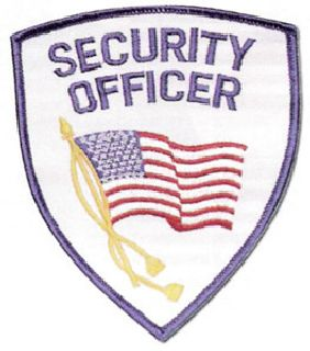 Security Officer Flag Shoulder Patch