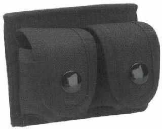 Double speed loader case, black nylon-