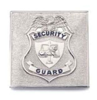 Small Square Security Guard, Nickel-