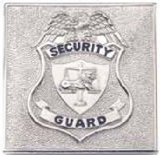 Small Square Security Guard, Gold