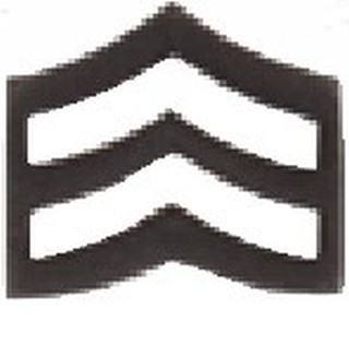 Corporal Chevron, Large, Black-HWC Equipment