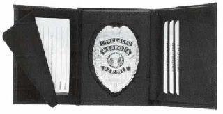 Hidden Badge Wallet, Oval Cut-