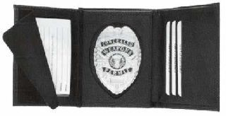 Hidden Badge Wallet, Shield Cut-