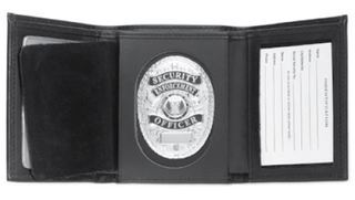 Trifold Wallet, Shield Cut-Strong Leather