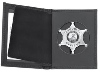 Book Style Wallet, Round Cut-