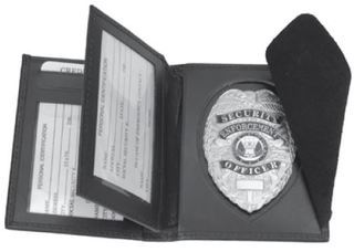 Hidden badge & ID RFID wallet, oval-