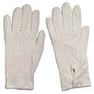 Hwc White Cotton Parade Glove