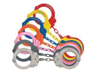 #750C chain handcuff, pink-Peerless Handcuff Company