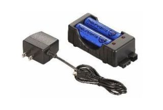 120v AC charger with two 18650 Li Ion batteries-Streamlight