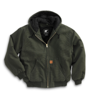 Cotton Duck Hooded Jacket-White Bear Clothing Co.