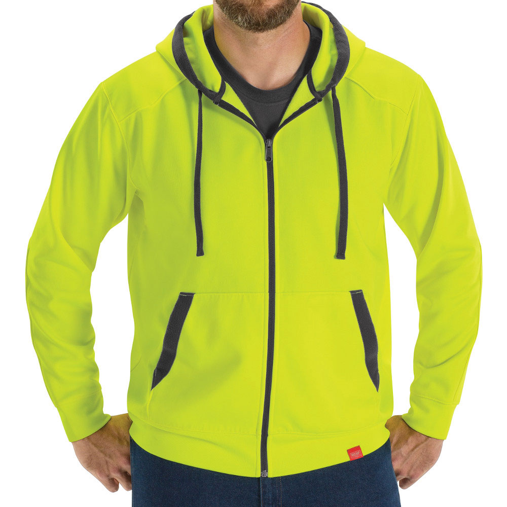 Full Zip Fluorescent Work Hoodie