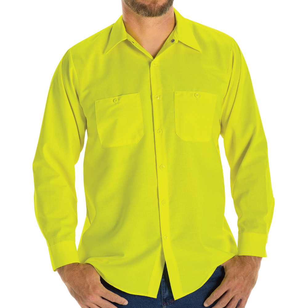 Enhanced Visibility Ripstop Long-Sleeve Woven Shirt