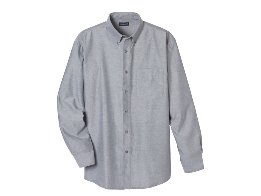 (M) TULARE Oxford LS shirt-Trimark