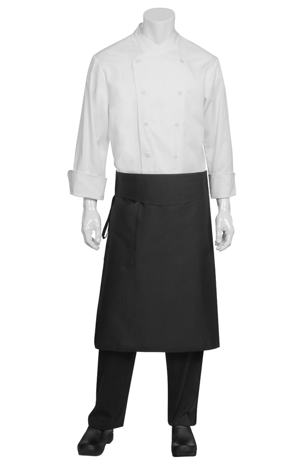 Black Tapered Chef Apron
