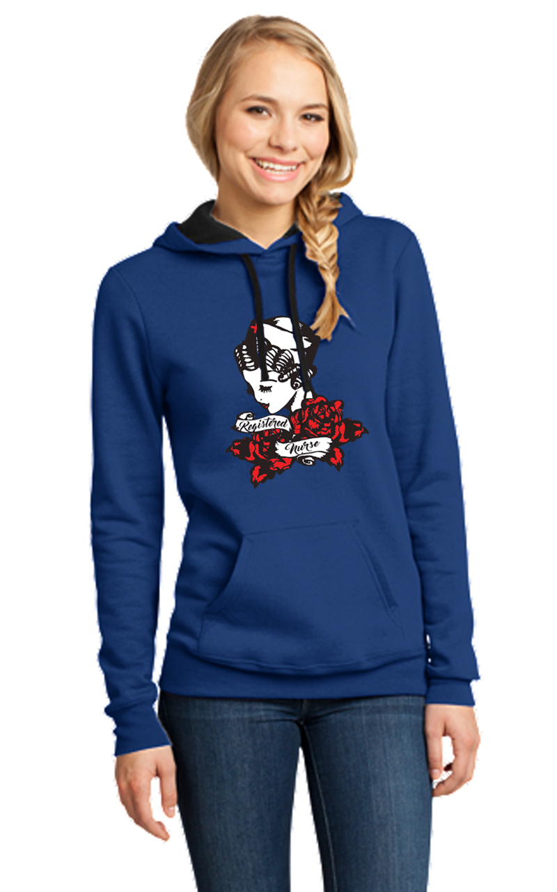 RN Tattoo flash art hoodie-DGG Healthcare Collection