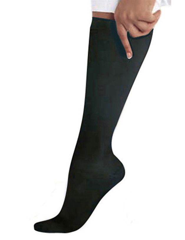 SOCKS - Landau Black Compression Knee High Socks /1 Pair-Landau