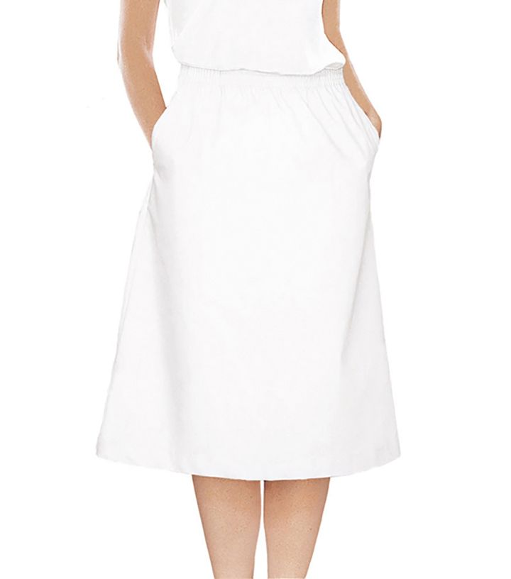 White A-Line Skirt-Landau