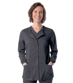Womens Modern Crewneck Warmup With Knit Cuffs-Landau