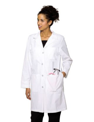 Womens Labcoat With Four Button Closure-Landau
