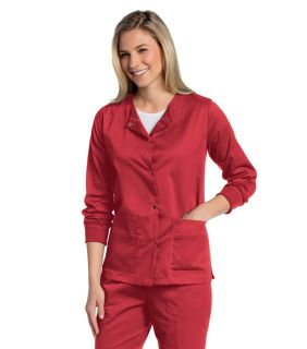 All Day Ladies Snap Front Warm Up Jacket - 3507-Landau