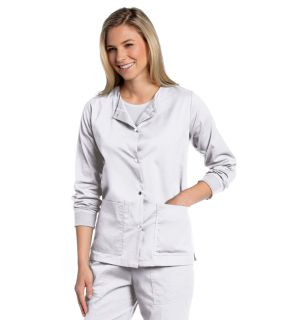 All Day Snap Front Warm-Up Scrub Jacket-Landau