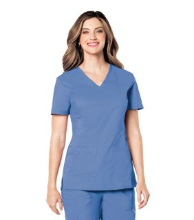 Landau Pre-Washed V-Neck Scrub Top-Landau