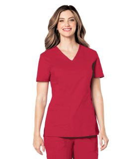PreWash Ladies 2 Pocket V-Neck Top - 4125-