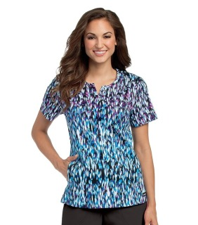 Landau Notch Neck Tunic Scrub Top-Landau