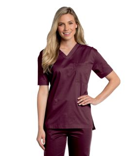 All-Day Unisex V-Neck Scrub Top - 4139-Landau