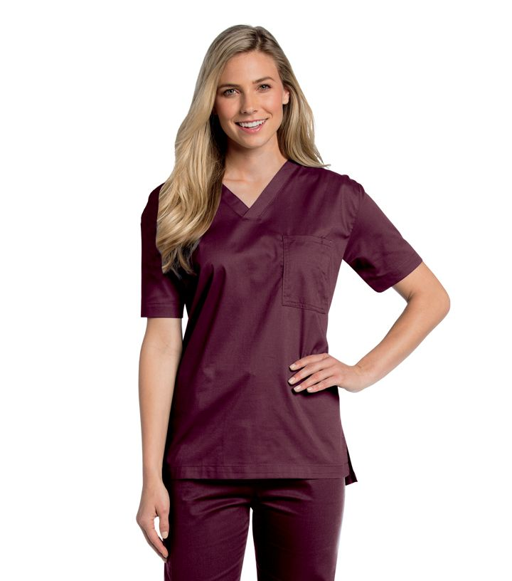 All-Day Unisex V-Neck Scrub Top - 4139