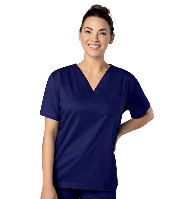 Landau Medical Landau Mens All day All Day Unisex V Neck Scrub Top-Landau