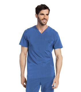 Mens Media Scrub V-Neck Top-