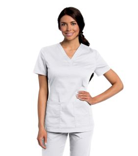 Womens All Day Y Neck Scrub Tunic-Landau