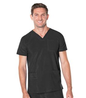 Mens V Neck 4 Pocket Top-Landau