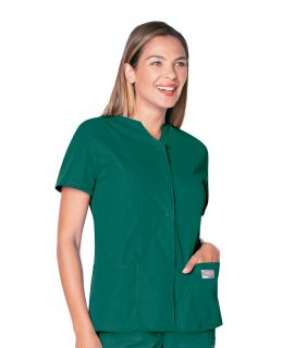 Scrub Zone Ladies Snap Front Tunic - 70223-Landau