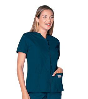 Scrub Zone Ladies Snap Front Tunic
