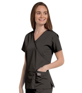 Womens Faux Wrap Tunic-Landau