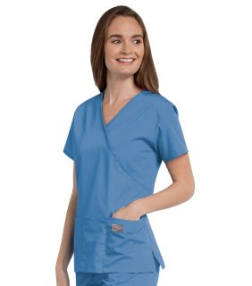 Scrub Zone Ladies Faux Wrap Tunic - 70224-Landau