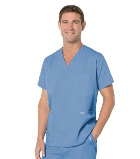 7489 Landau Mens 5-Pocket Scrub Top-Landau