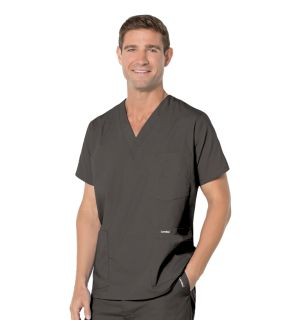 Mens 5-Pocket Scrub Top