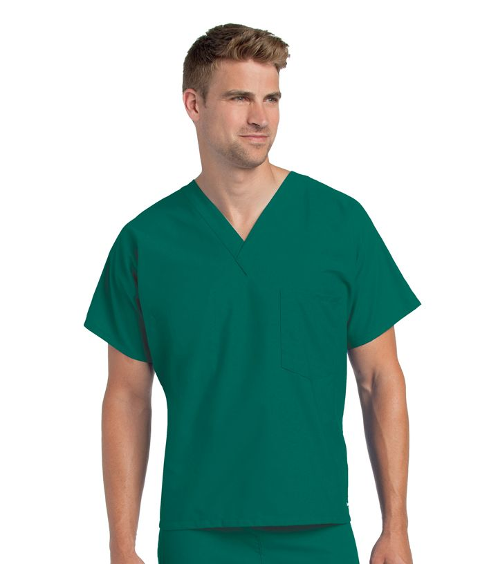 Unisex Scrub V-Neck Top-Landau
