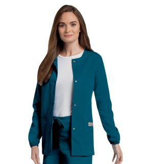 Scrub Zone Ladies Snap Front Warm-Up Jacket