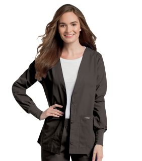 7535 Landau Women's Cardigan V-Neck Warm-Up Jacket w/Knit Cuffs-Landau